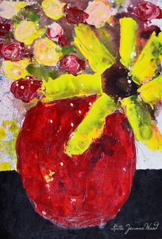 Katherine Jeanne Wood - 9x6 Flower Series No 195 01