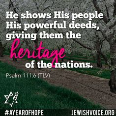 Sharing the Gospel of Yeshua (Jesus) to the Jew first and also to Gentiles. Learn about Messianic Judaism, Rabbi Jonathan Bernis, medical missions and more. Messianic Judaism, Scripture Of The Day, Prayer Scriptures, Good News, Giving, Psalms, The Voice, Prayers, Learning