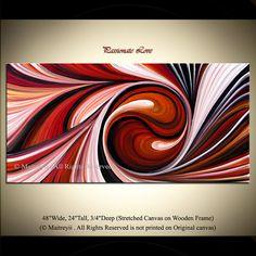 Palette Knife Swirl Texture Original Abstract by orignalmodernart, $380.00