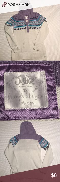 Justice Long Sleeve Girls Size 12 Sweater Justice Long Sleeve Sweater Size 12. Girls. Gently used. No stains rips or holes Justice Shirts & Tops Sweaters