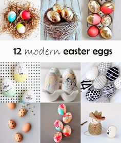 Ohoh Blog - diy and crafts: DIY Monday - POSTED BY AMA RYLLIS -12 Modern Easter eggs