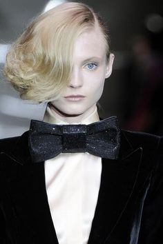 Fashion couture with fabulous bow