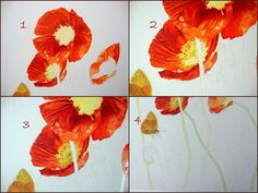 steps for painting stamens and stigma