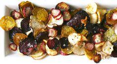 Roasted herbed veggie chips