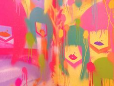 Detalhe da pintura. Provador Garimppo | coisas de Talitha | Talitha Rossi