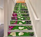 Stair Risers Murals & Decals - U. Vinyl Wallpaper, Floor Wallpaper, Home Wallpaper, Stair Stickers, Photo Wall Stickers, Stair Art, Stair Decor, Finishing Stairs, Painted Stair Risers