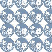 Bird & Squiggle by paper_panda, Spoonflower digitally printed fabric