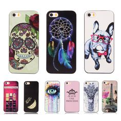 Ultra Thin Printing Hard Plastic Case For Apple iPhone 4 iPhone4 iPhone 4S iPhone4S Colorful Back Skin Phone Protective Cover