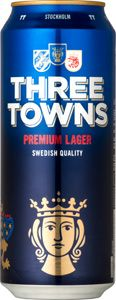 Three Towns Premium Lager / Aromatisk doft med lätta inslag av och bröd och citrus från ädelhumlen Tettnanger. Karaktärsfull smak med fina toner av maltighet och fruktighet i kombination med lätt beska