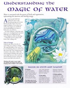 The Magic of Water - pagan - witch - Pinned by The Mystic's Emporium on Etsy Water Witch, Sea Witch, Wicca Witchcraft, Magick Spells, Hoodoo Spells, Moon Spells, Magia Elemental, Under Your Spell, 5 Elements