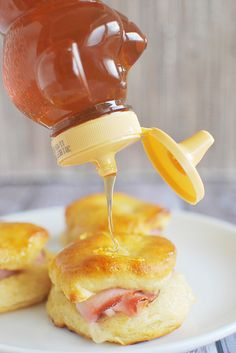 Honey Ham Biscuits recipe! Perfect for any leftover ham!