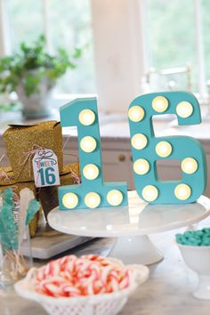 A Sweet 16 Birthday - a guide to DIY your own marquee {or number with lights}