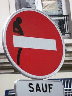 #trafficsign #pimpMyTrafficsign #streetart