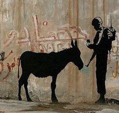 by Banksy in Palestine (LP)