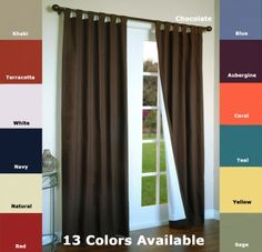 Curtains and Drapes Tab Top Curtains, Blackout Curtains, Panel Curtains, Valance, Curtain Panels, Insulated Curtains, Sage Color, French Doors