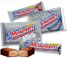 The 3 Musketeers Bar from M&M/Mars (known as a Milky Way everywhere outside of the US) was introduced to the US way back in It's n. Twix Chocolate, Best Chocolate, How To Make Chocolate, Candy Images, American Chocolate, All Candy, Types Of Candy, Snack Recipes, Snacks