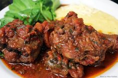 Rabada com Agrião e Angu (Oxtail with watercress and polenta) – Let's Cook Something Chef Taico, Oxtail, Food Videos, Pork, Food And Drink, Beef, Cooking, Kitchen, Meat Recipes