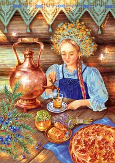 Просмотреть иллюстрацию Сбитень из сообщества русскоязычных художников автора Таня Сытая / Tanya Sitaya в стилях: Книжная графика, нарисованная техниками: Растровая (цифровая) графика.