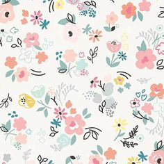 print & pattern: SCRAPBOOK - crate paper : little you Pattern Paper, Pattern Art, Fabric Patterns, Flower Patterns, Flower Wallpaper, Pattern Wallpaper, Crate Paper, Pretty Patterns, Pattern Illustration