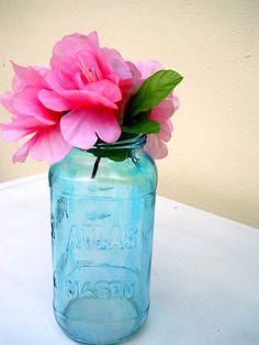 Hey, I found this really awesome Etsy listing at https://www.etsy.com/listing/178165303/hand-tinted-blue-24-oz-mason-jar-vase