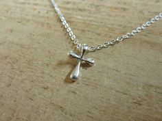 Tiffany's inspired sterling silver cross necklace