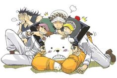 Heart Pirates - Trafalgar D. Water Law, Bepo, Penguin, Shachi, and Jean Bart One Piece