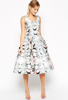 Brides.com: . Super full belted floral prom dress, $172, ASOS