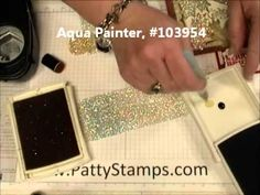 colored glimmer paper You can turn silver or white glimmer paper into any color with your ink