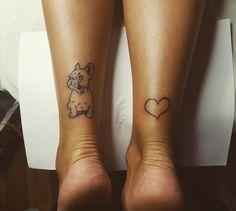 Shoe Tattoos, Skull Tattoos, Animal Tattoos, Tatoos, Small French Bulldog, French Bulldog Tattoo, Bulldogge Tattoo, Different Tattoos, Jewelry Tattoo