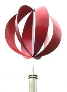 Metal Oak Leaf Straight Stake Kinetic Sculpture. wind spinner ...