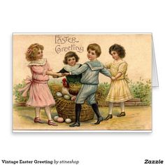 Vintage Easter Greeting Greeting Card