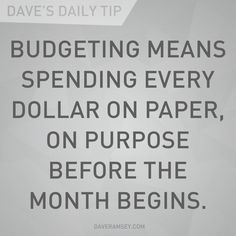 Budgeting explained (via @Dave Ramsey)