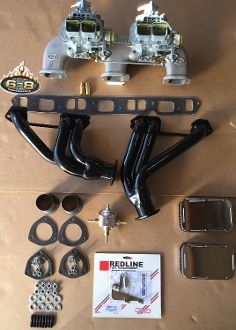Chevy 230 250 292 Twin Weber Kit W 6 8 Headers Chevy Chevy Motors C10 Chevy Truck