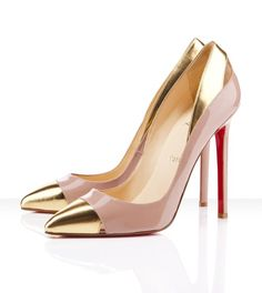 a02efb6dd06d and here are the pretty shoes I just bought! gold tip shoes. DameskoPumps  HæleStilethæleLouboutin ...