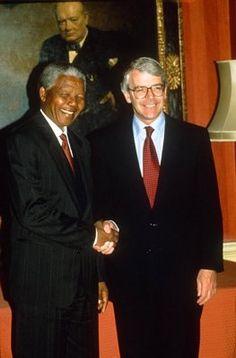 PRESIDENT NELSON MANDELA AT 10 DOWNING STREET
