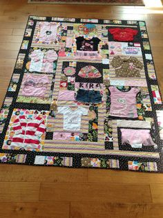 Customer baby clothes quilt