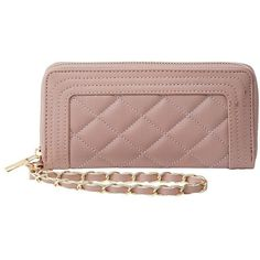 Charlotte Russe Quilted Wristlet Wallet (155 MXN) ❤ liked on Polyvore featuring bags, wallets, lilac, quilted bag, quilted wristlet, vegan leather bags, accordion wallet and vegan bags
