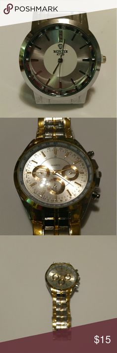 Mens watches 1 silver 1 gold Awesome watches selling separate Other
