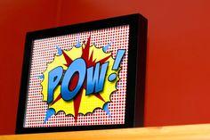 -POW- original design based on old Batman comic style for super hero theme room