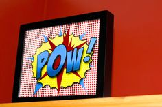 -POW- original design based on old Batman comic style for super hero theme room