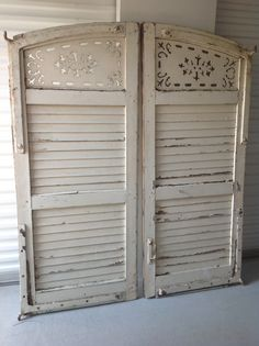 Jane's French shutters for headboard side B XOXO