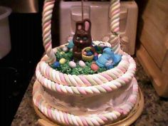 The easter cake I made...everything is edible:)