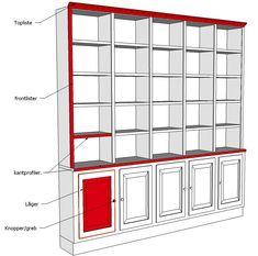 Home Library Rooms, Home Library Design, Home Office Design, Home Interior Design, Bookshelves In Living Room, Bookshelves Built In, Built In Furniture, Home Decor Furniture, Ikea Built In
