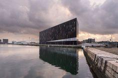 Ecole Nationale Superieure Maritime (ENSM) by AIA Associés, © Luc Boegly | Le Havre | France | Waterfront 2016 | WAN Awards #wanawards #trainingschool #architecture #maritime #dockside #architecture