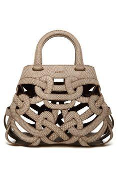 Vintage Tan Looped Handbag!