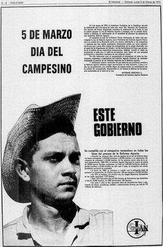 Día del Campesino. Publicado el 5 de marzo de 1973