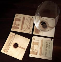 Wooden Floppy Disk Coasters.  Not exactly a gadget, but close enough.