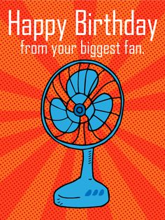 From Your Biggest Fan - Funny Birthday Card: Do you have a loved one who loves puns? Do they have a birthday coming up? Then send this funny Happy Birthday card to celebrate their special day! Everyone deserves love from their biggest fans, so make sure this birthday is full of fun and special memories for your favorite person! Use this Happy Birthday card to shower your friend or family member with love on their special day!