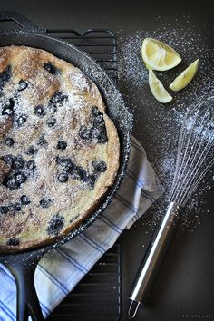 Blueberry Dutch Baby by neelywang #Dutch_Baby #Blueberry