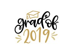 Free grad of 2019 svg file for silhouette and cricut. Make some cute graduation DIY projects with this free svg file and finish school in style. logo Free Grad of 2019 SVG DXF PNG & JPEG Graduation Logo, Graduation Clip Art, Graduation Images, Graduation Desserts, Graduation Project, Graduation Celebration, Graduation Ideas, Graduation Gifts, Cricut